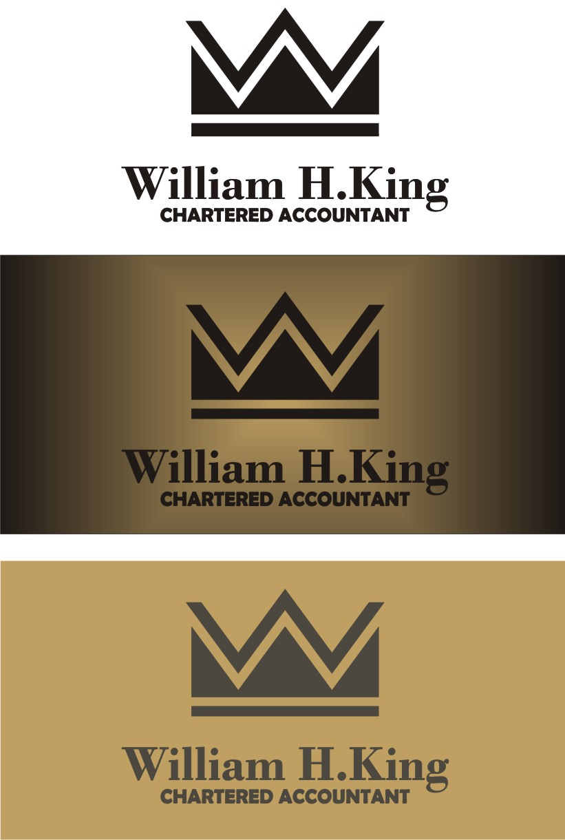 Logo Design by Korsunov Oleg - Entry No. 137 in the Logo Design Contest New Logo Design for William H. King, Chartered Accountant.