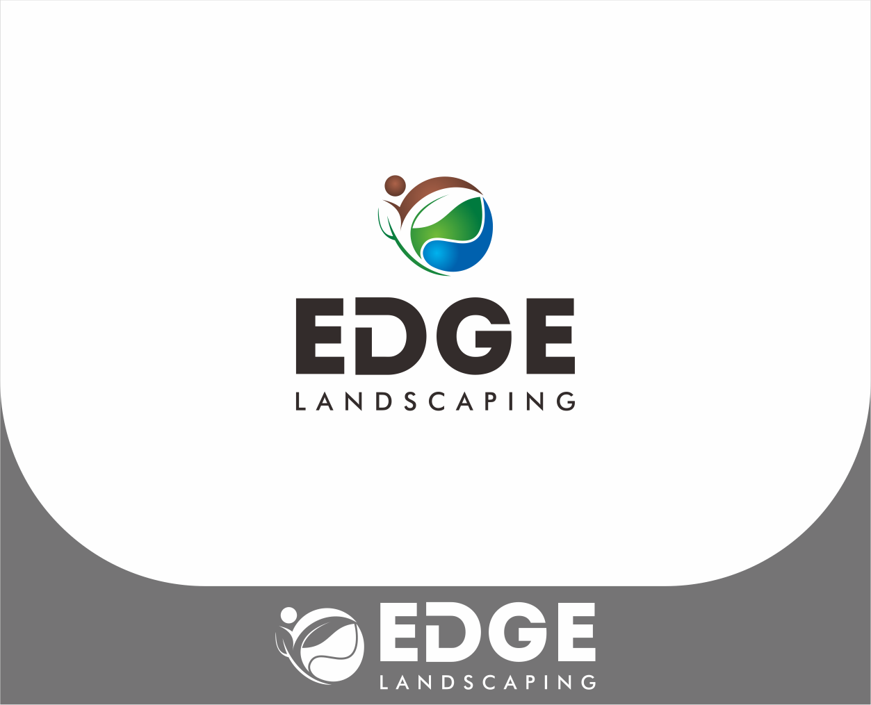Logo Design by Armada Jamaluddin - Entry No. 257 in the Logo Design Contest Inspiring Logo Design for Edge Landscaping.