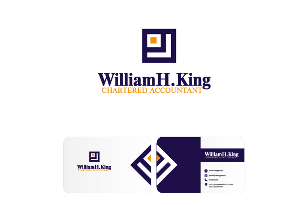 Logo Design by Private User - Entry No. 140 in the Logo Design Contest New Logo Design for William H. King, Chartered Accountant.