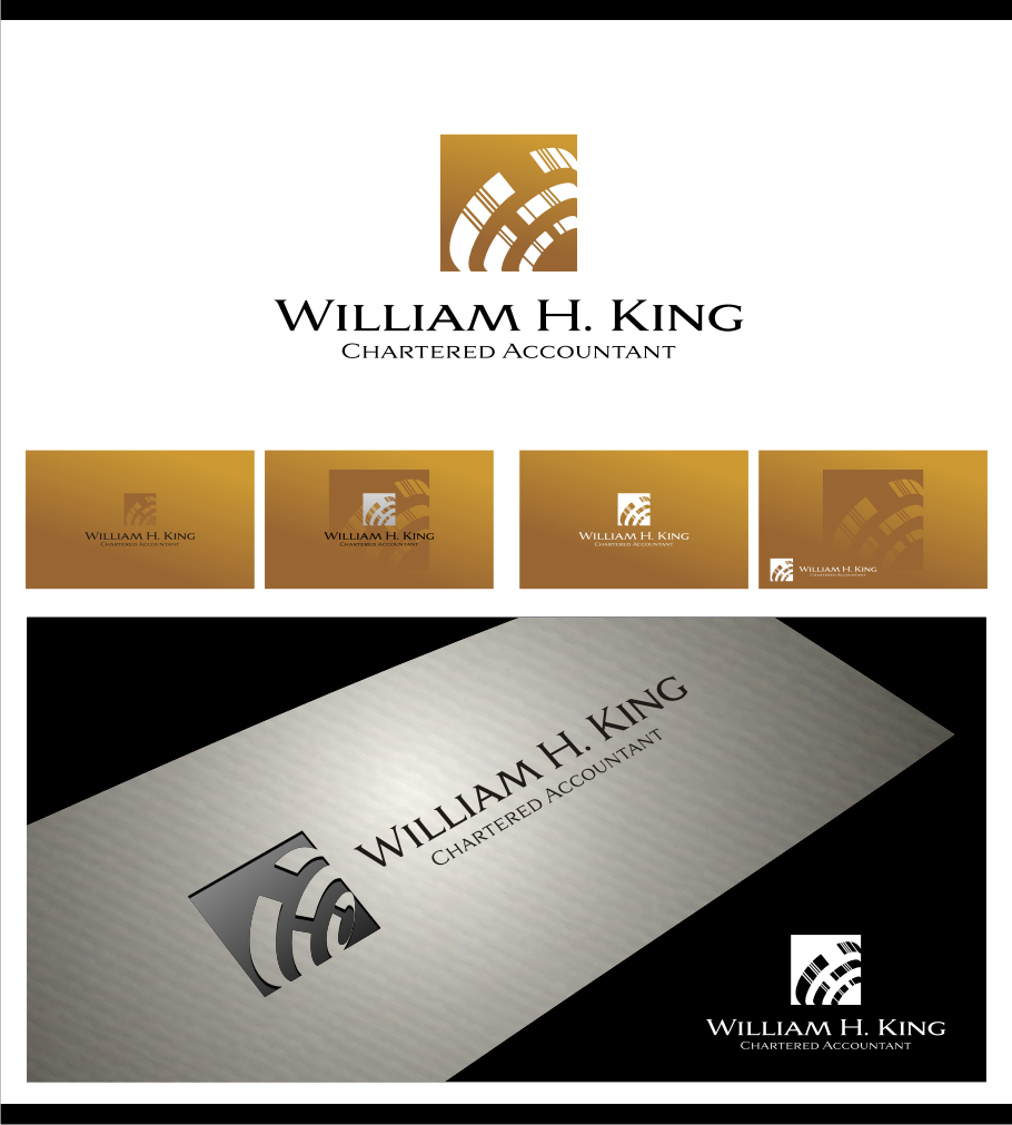 Logo Design by Muhammad Nasrul chasib - Entry No. 142 in the Logo Design Contest New Logo Design for William H. King, Chartered Accountant.