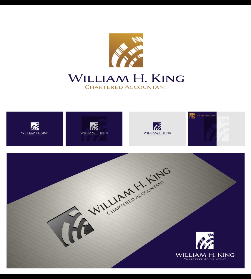 Logo Design by graphicleaf - Entry No. 143 in the Logo Design Contest New Logo Design for William H. King, Chartered Accountant.