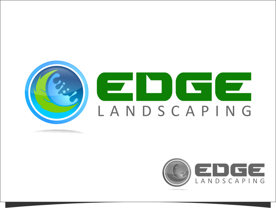 Logo Design by Ngepet_art - Entry No. 259 in the Logo Design Contest Inspiring Logo Design for Edge Landscaping.