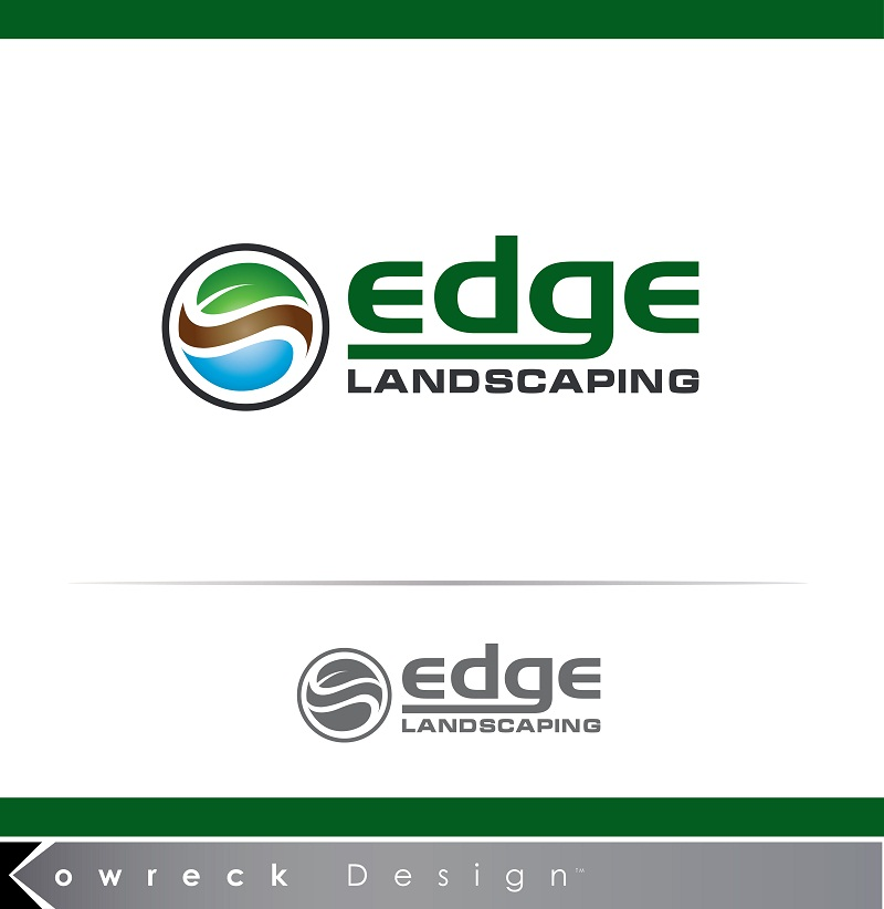 Logo Design by kowreck - Entry No. 264 in the Logo Design Contest Inspiring Logo Design for Edge Landscaping.