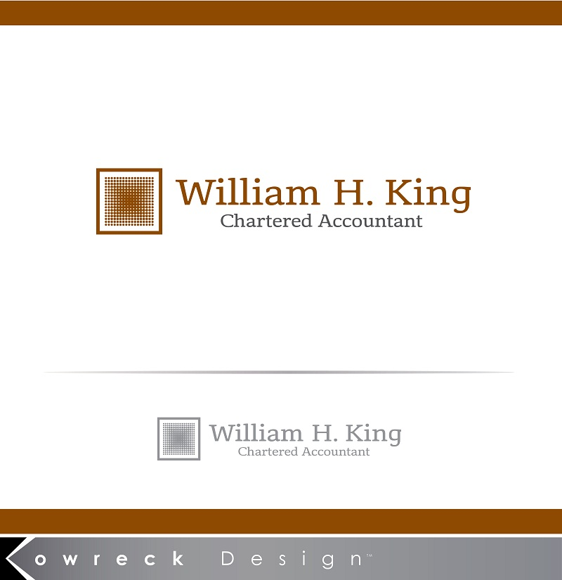 Logo Design by kowreck - Entry No. 146 in the Logo Design Contest New Logo Design for William H. King, Chartered Accountant.