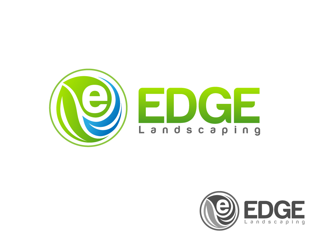 Logo Design by Jagdeep Singh - Entry No. 269 in the Logo Design Contest Inspiring Logo Design for Edge Landscaping.