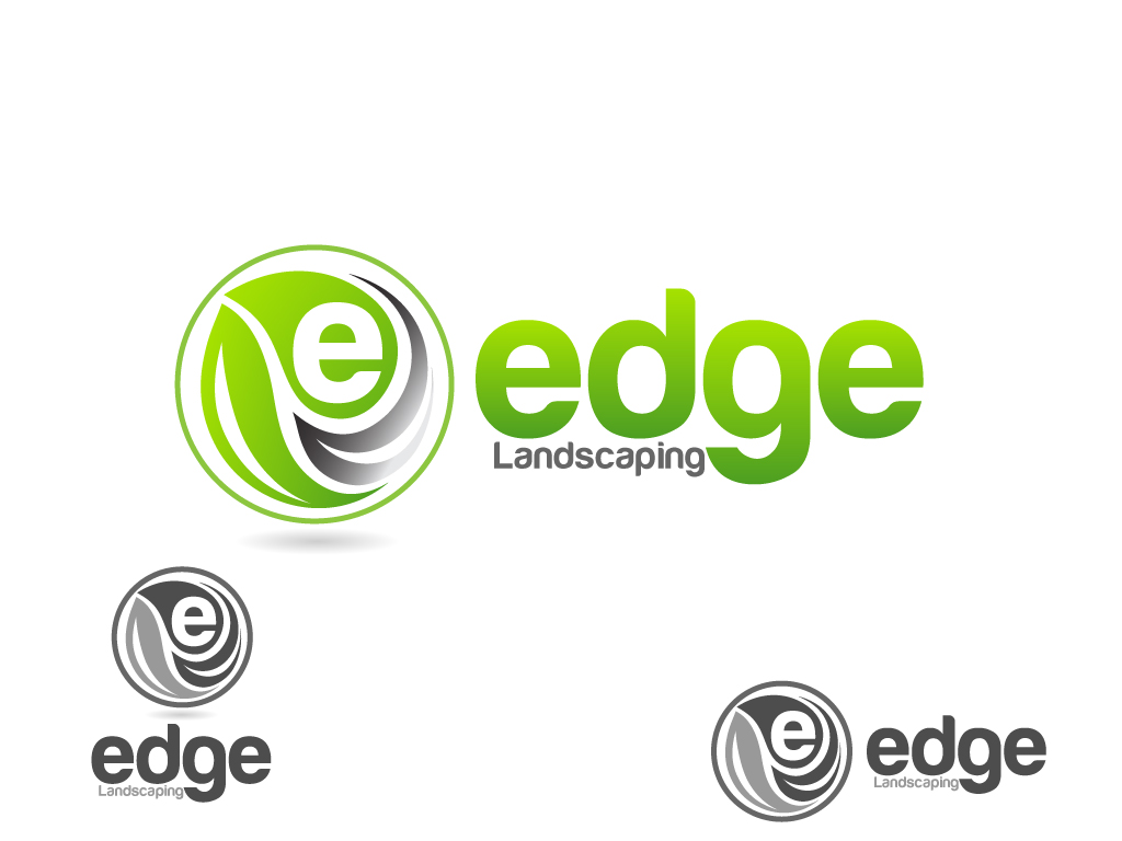 Logo Design by Jagdeep Singh - Entry No. 270 in the Logo Design Contest Inspiring Logo Design for Edge Landscaping.