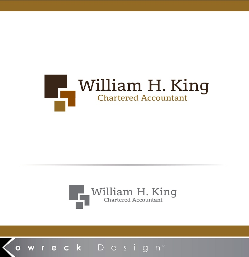 Logo Design by kowreck - Entry No. 147 in the Logo Design Contest New Logo Design for William H. King, Chartered Accountant.