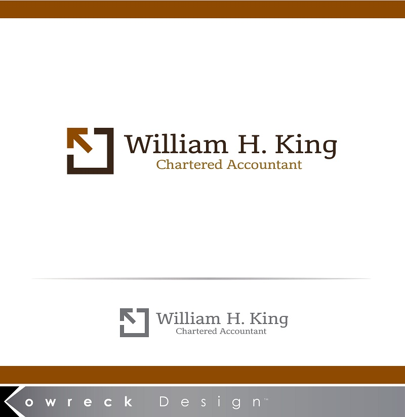 Logo Design by kowreck - Entry No. 148 in the Logo Design Contest New Logo Design for William H. King, Chartered Accountant.