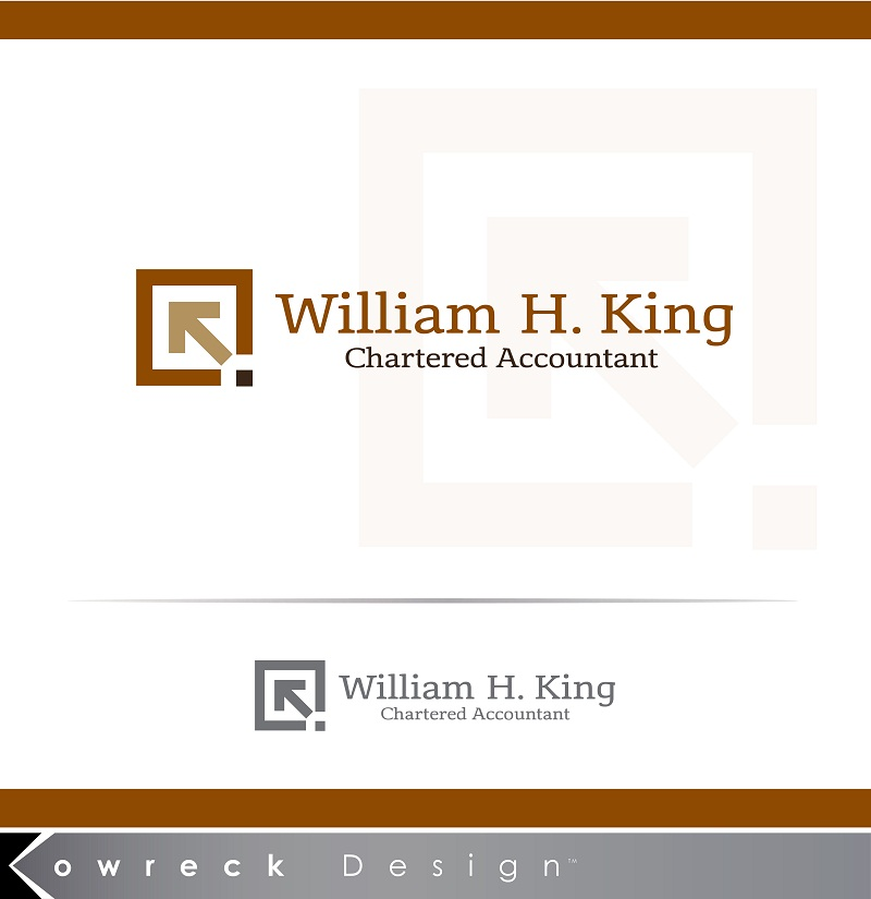 Logo Design by kowreck - Entry No. 149 in the Logo Design Contest New Logo Design for William H. King, Chartered Accountant.