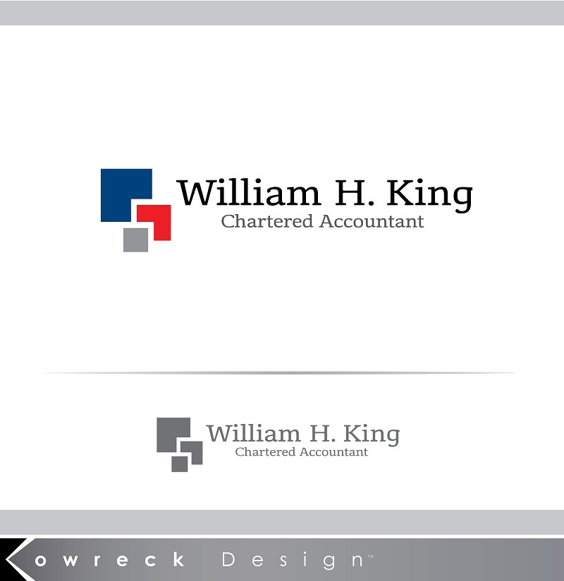 Logo Design by kowreck - Entry No. 152 in the Logo Design Contest New Logo Design for William H. King, Chartered Accountant.