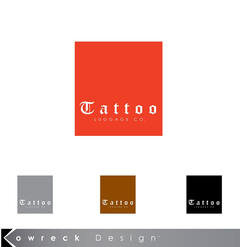Logo Design by kowreck - Entry No. 2 in the Logo Design Contest Artistic Logo Design for Tattoo Luggage Company.