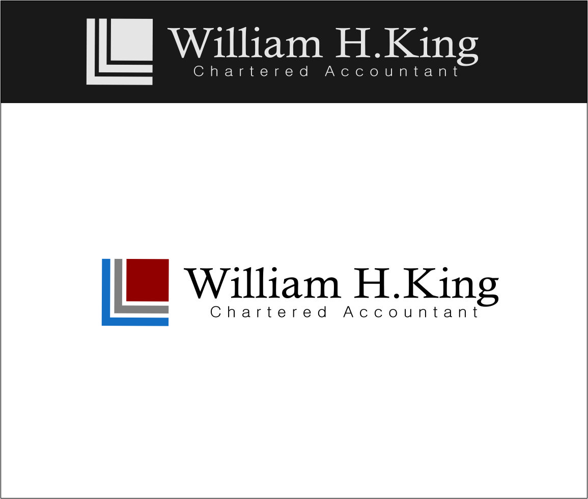 Logo Design by Agus Martoyo - Entry No. 156 in the Logo Design Contest New Logo Design for William H. King, Chartered Accountant.