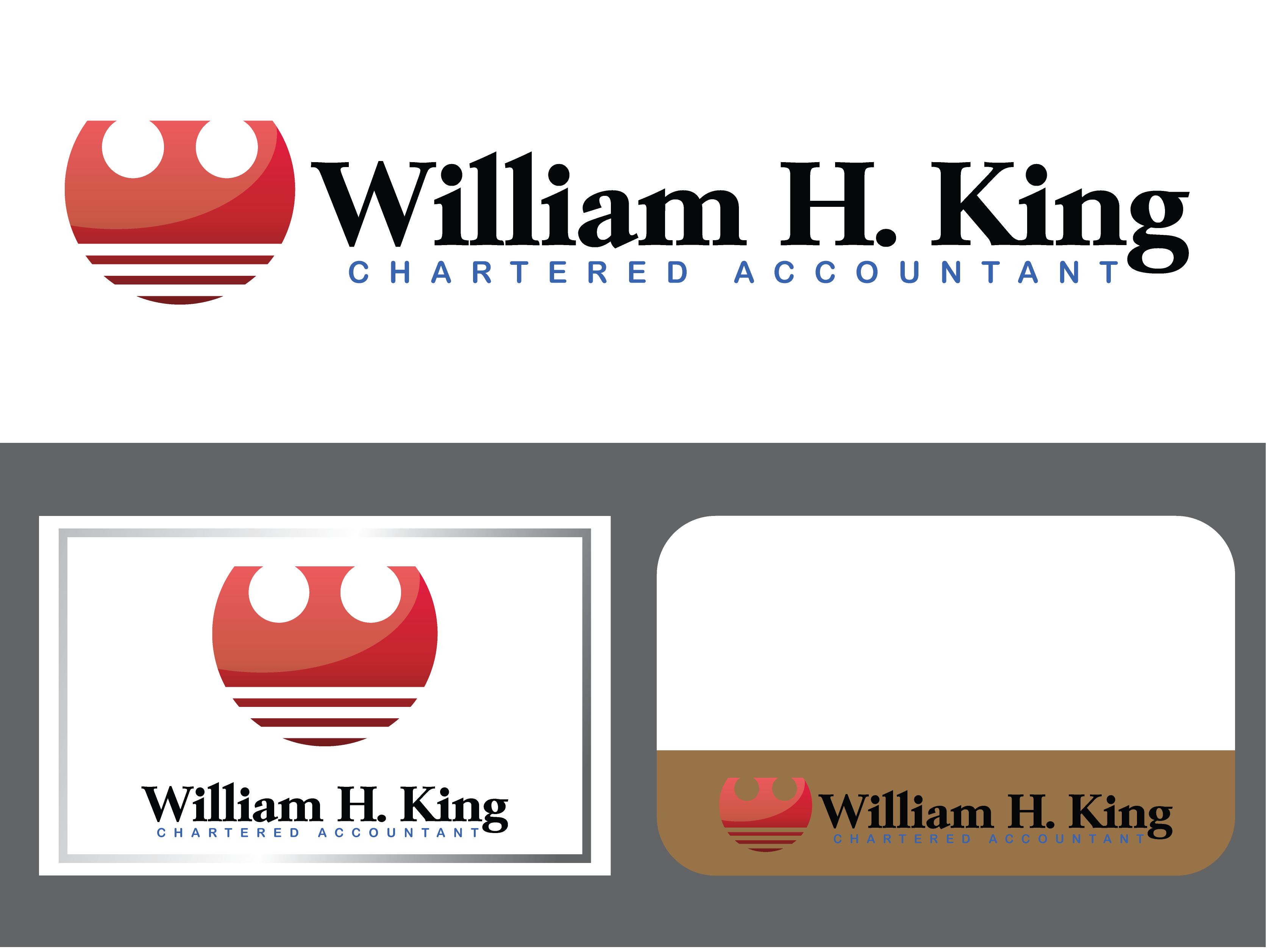 Logo Design by Private User - Entry No. 157 in the Logo Design Contest New Logo Design for William H. King, Chartered Accountant.
