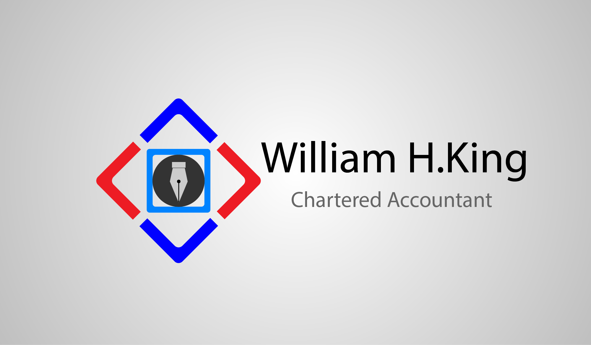 Logo Design by Private User - Entry No. 159 in the Logo Design Contest New Logo Design for William H. King, Chartered Accountant.