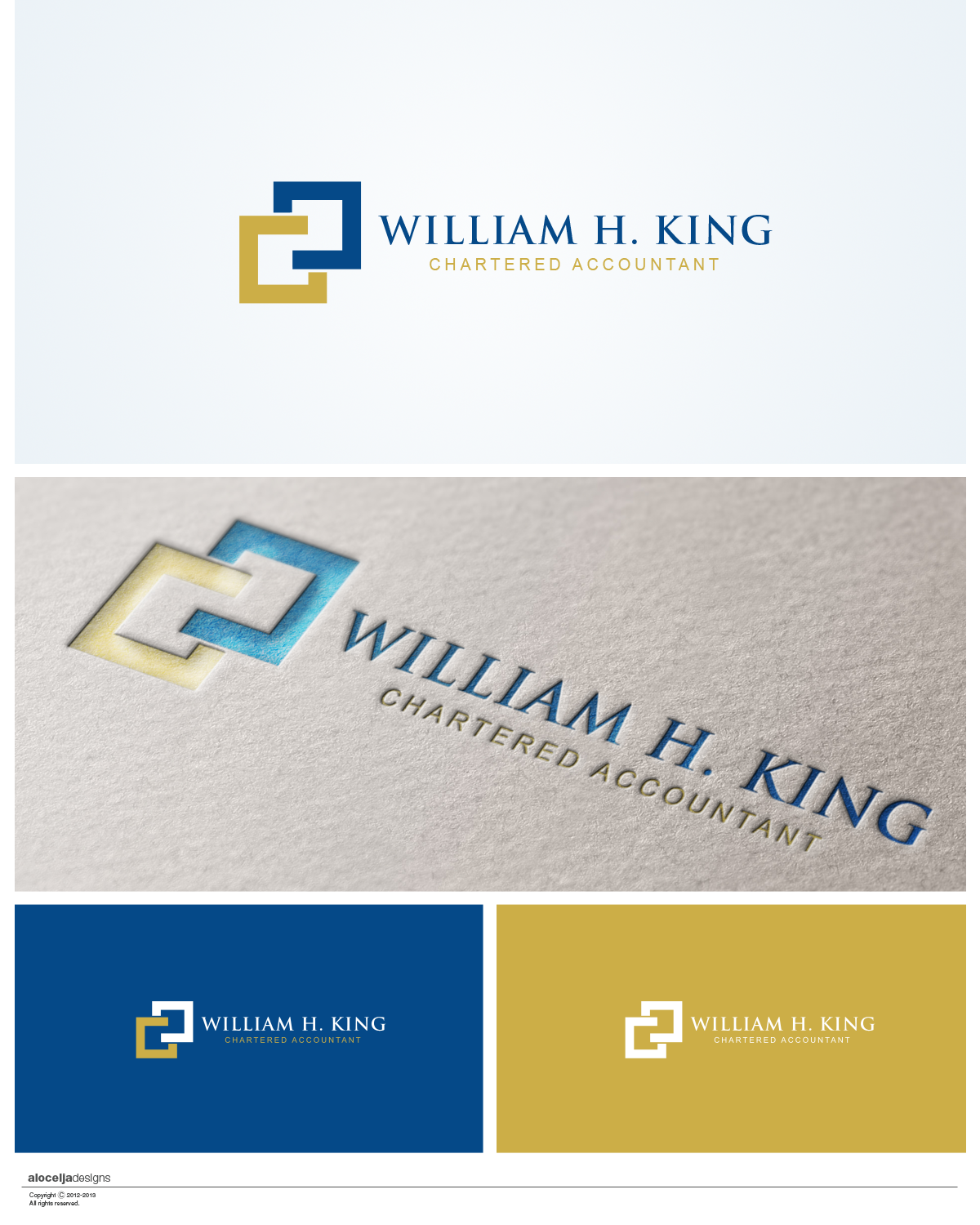Logo Design by alocelja - Entry No. 161 in the Logo Design Contest New Logo Design for William H. King, Chartered Accountant.