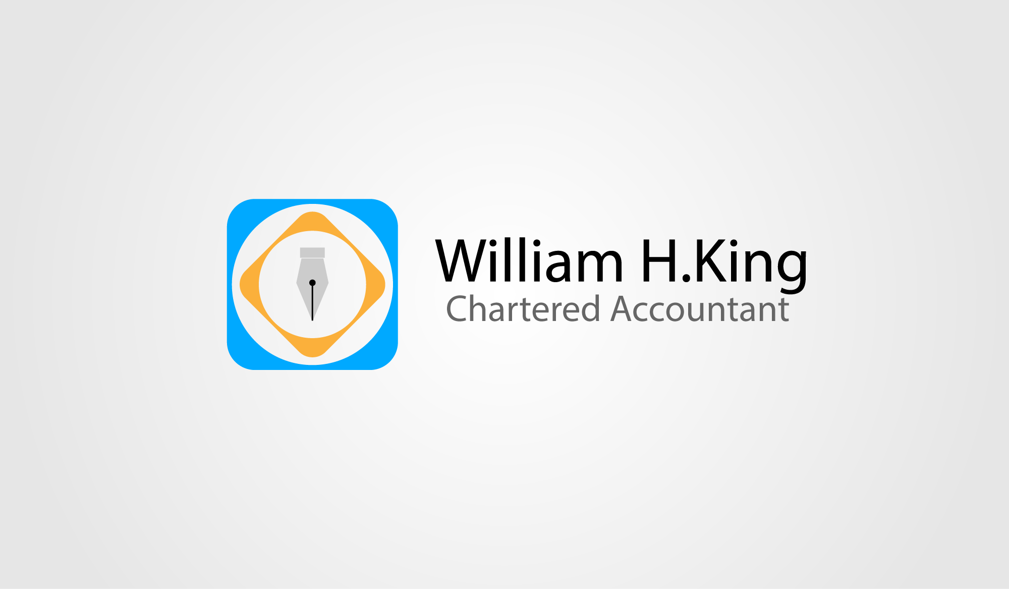 Logo Design by Private User - Entry No. 170 in the Logo Design Contest New Logo Design for William H. King, Chartered Accountant.