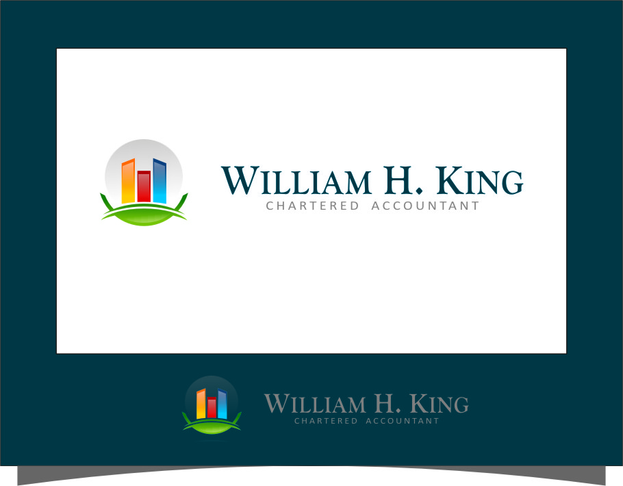 Logo Design by RoSyid Rono-Rene On Java - Entry No. 171 in the Logo Design Contest New Logo Design for William H. King, Chartered Accountant.