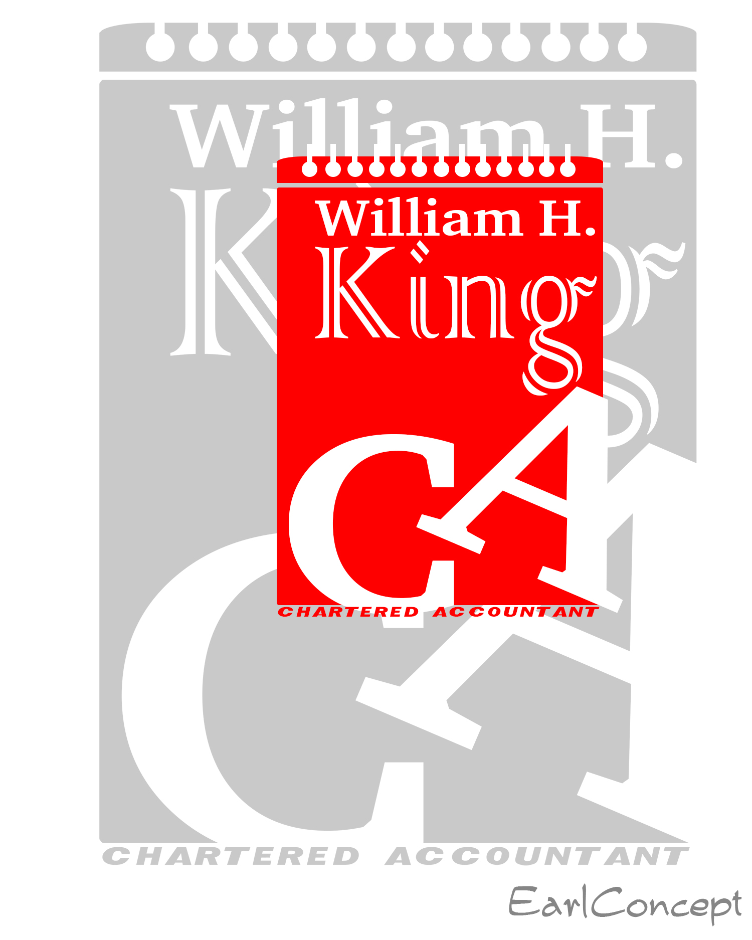 Logo Design by Earl Bangot - Entry No. 175 in the Logo Design Contest New Logo Design for William H. King, Chartered Accountant.