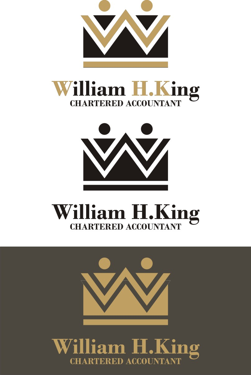 Logo Design by Korsunov Oleg - Entry No. 176 in the Logo Design Contest New Logo Design for William H. King, Chartered Accountant.