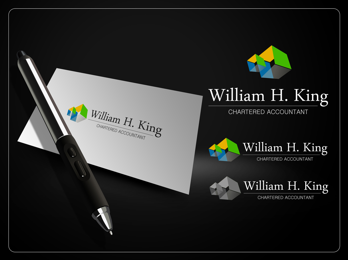 Logo Design by Mark Anthony Moreto Jordan - Entry No. 177 in the Logo Design Contest New Logo Design for William H. King, Chartered Accountant.
