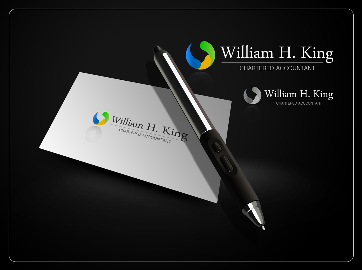 Logo Design by Mark Anthony Moreto Jordan - Entry No. 178 in the Logo Design Contest New Logo Design for William H. King, Chartered Accountant.