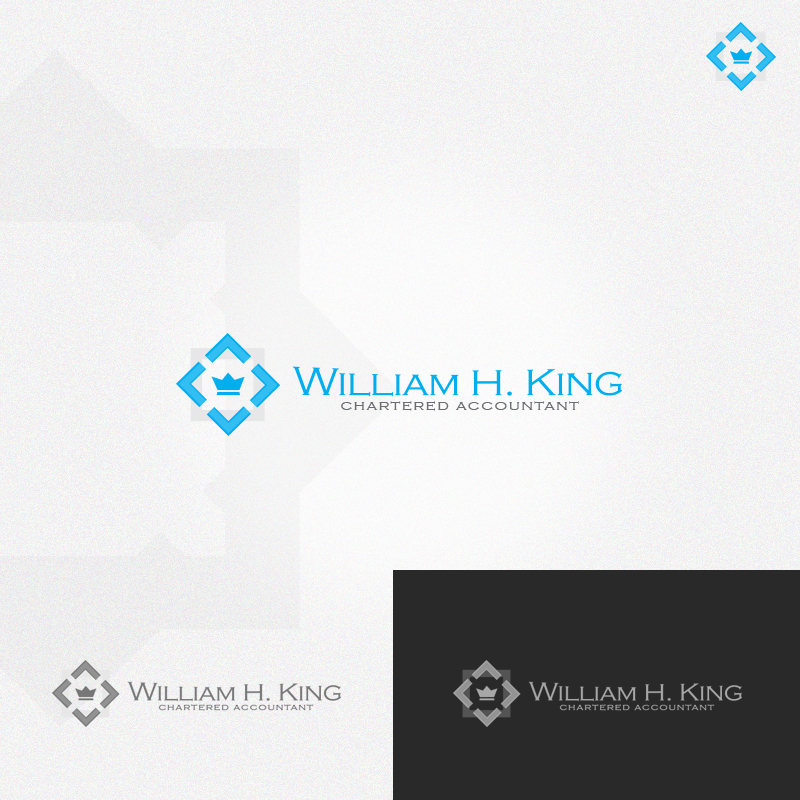 Logo Design by rockpinoy - Entry No. 180 in the Logo Design Contest New Logo Design for William H. King, Chartered Accountant.