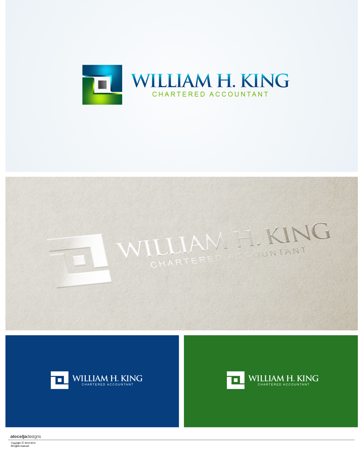 Logo Design by alocelja - Entry No. 182 in the Logo Design Contest New Logo Design for William H. King, Chartered Accountant.
