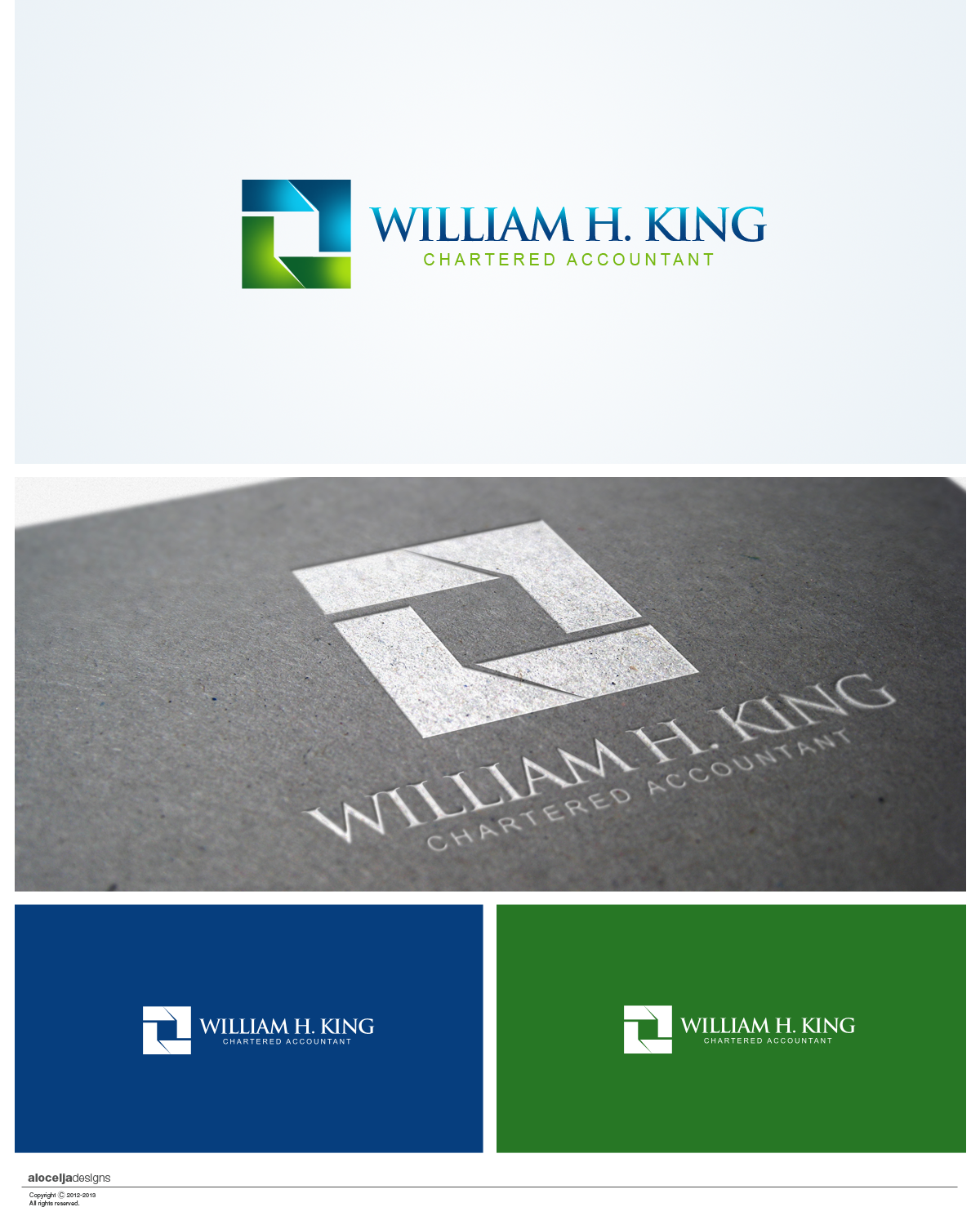 Logo Design by alocelja - Entry No. 183 in the Logo Design Contest New Logo Design for William H. King, Chartered Accountant.