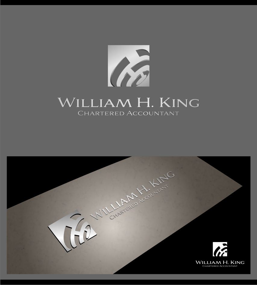 Logo Design by graphicleaf - Entry No. 187 in the Logo Design Contest New Logo Design for William H. King, Chartered Accountant.