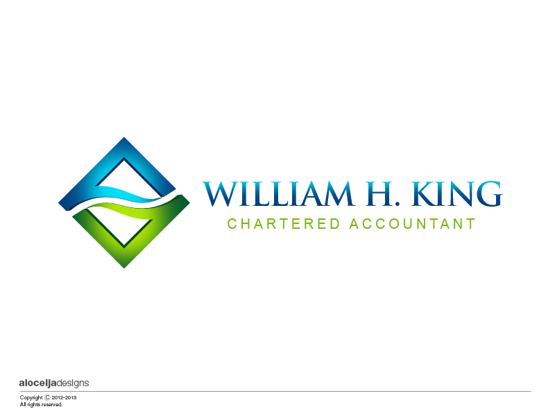 Logo Design by alocelja - Entry No. 190 in the Logo Design Contest New Logo Design for William H. King, Chartered Accountant.