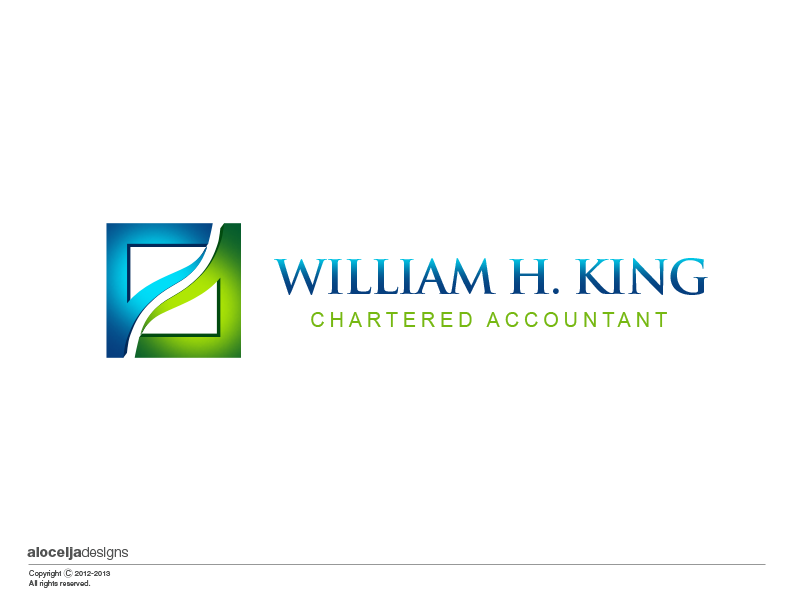 Logo Design by alocelja - Entry No. 191 in the Logo Design Contest New Logo Design for William H. King, Chartered Accountant.