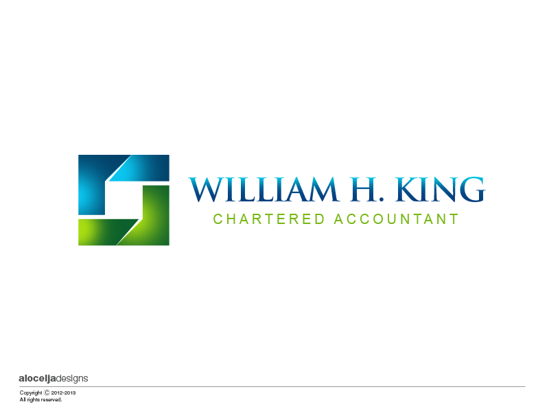 Logo Design by alocelja - Entry No. 192 in the Logo Design Contest New Logo Design for William H. King, Chartered Accountant.