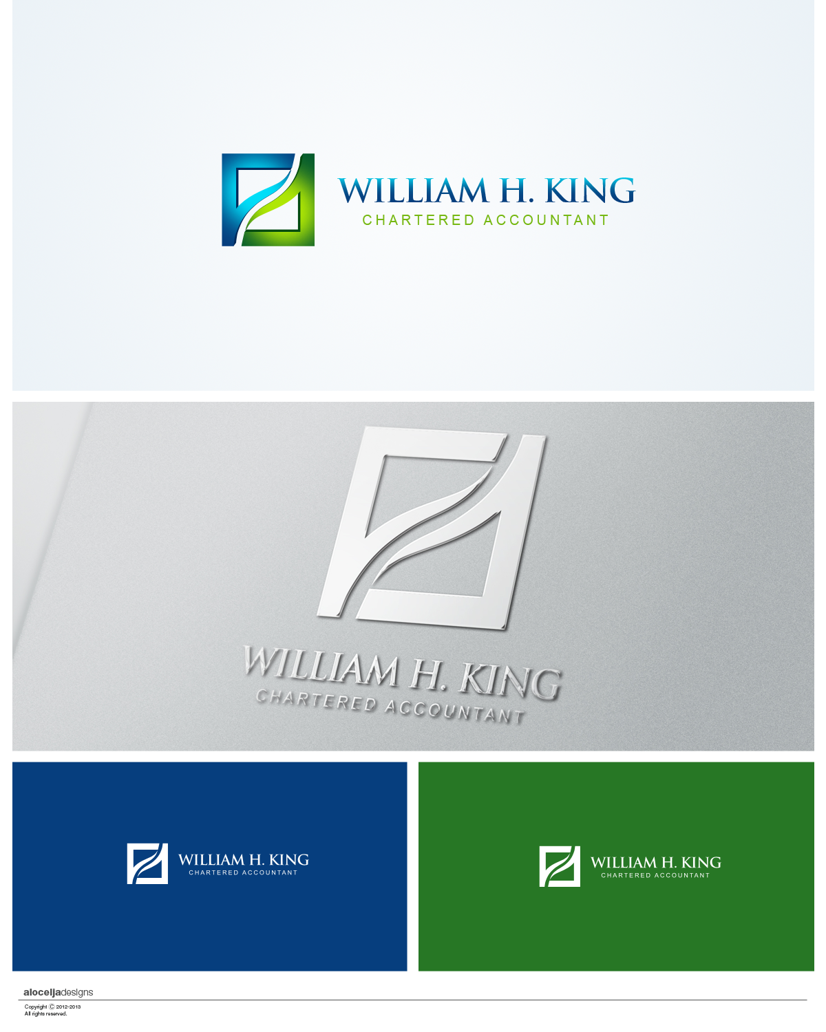 Logo Design by alocelja - Entry No. 193 in the Logo Design Contest New Logo Design for William H. King, Chartered Accountant.