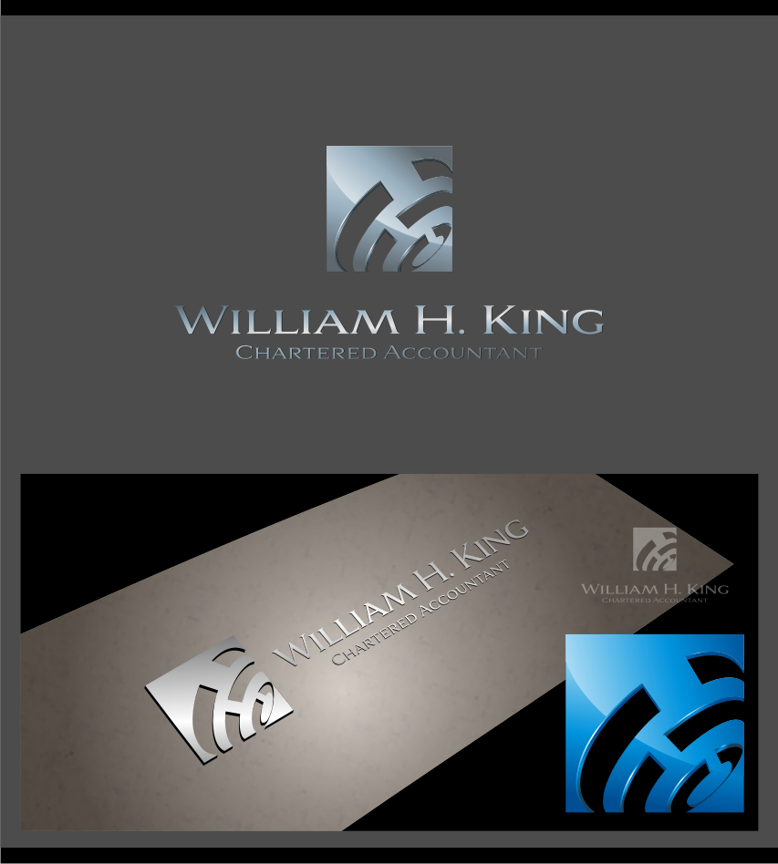 Logo Design by graphicleaf - Entry No. 194 in the Logo Design Contest New Logo Design for William H. King, Chartered Accountant.