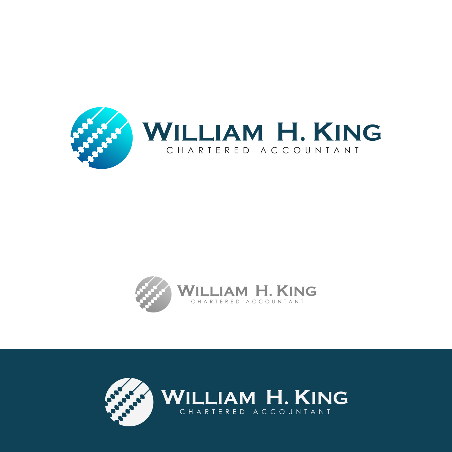Logo Design by omARTist - Entry No. 195 in the Logo Design Contest New Logo Design for William H. King, Chartered Accountant.