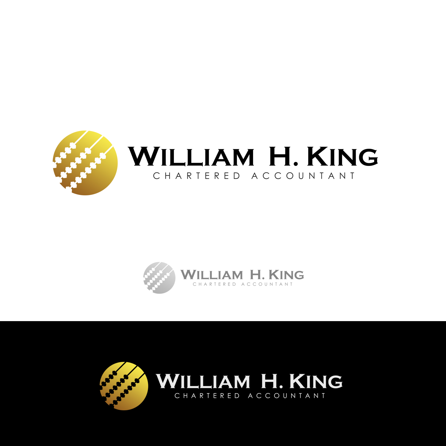 Logo Design by omARTist - Entry No. 196 in the Logo Design Contest New Logo Design for William H. King, Chartered Accountant.