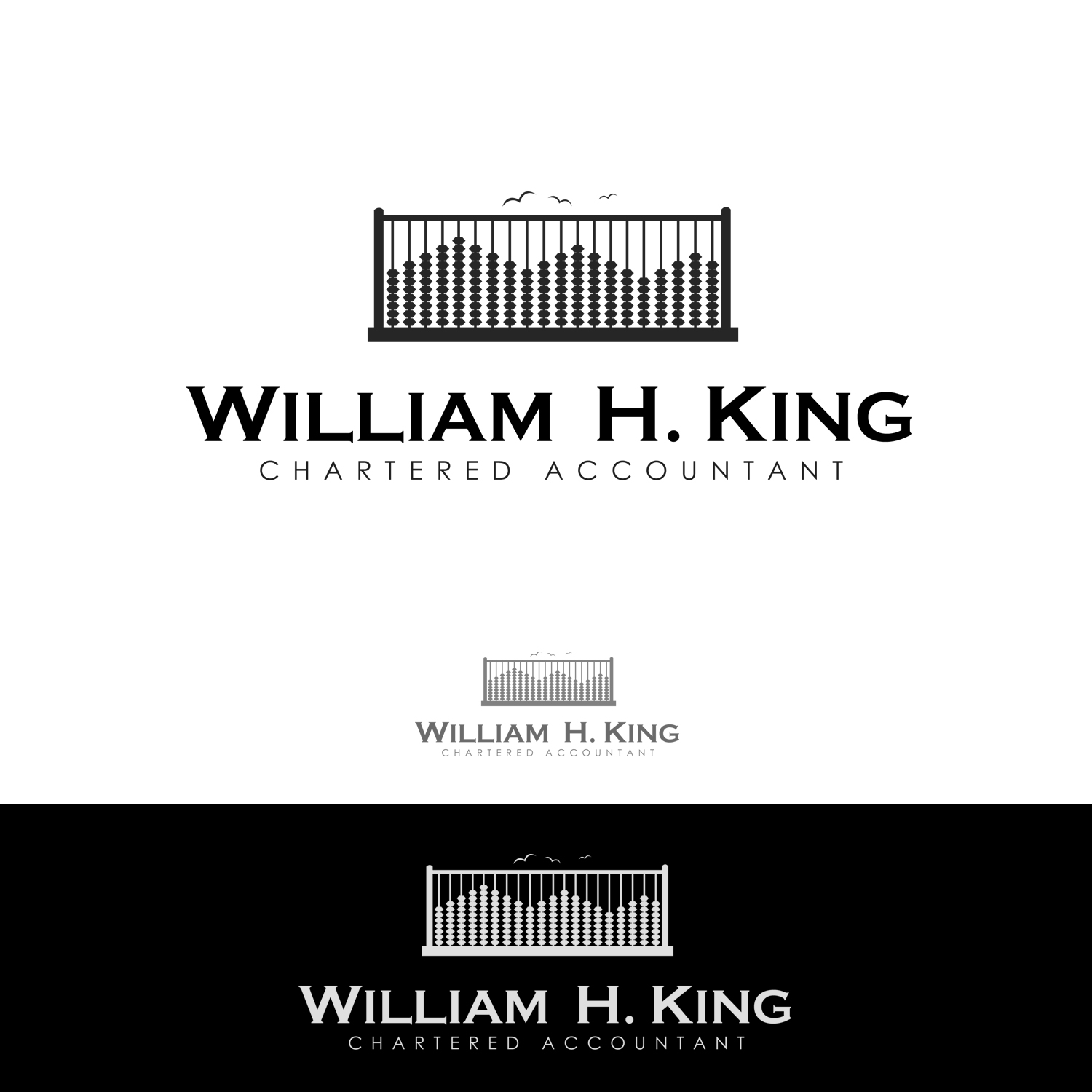 Logo Design by omARTist - Entry No. 197 in the Logo Design Contest New Logo Design for William H. King, Chartered Accountant.
