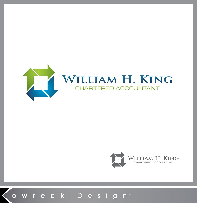 Logo Design by kowreck - Entry No. 198 in the Logo Design Contest New Logo Design for William H. King, Chartered Accountant.