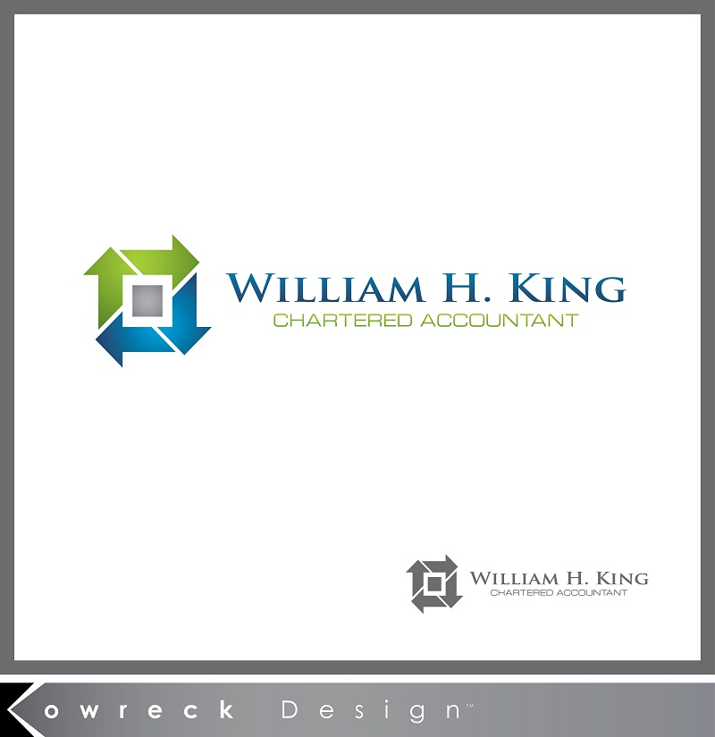 Logo Design by kowreck - Entry No. 199 in the Logo Design Contest New Logo Design for William H. King, Chartered Accountant.