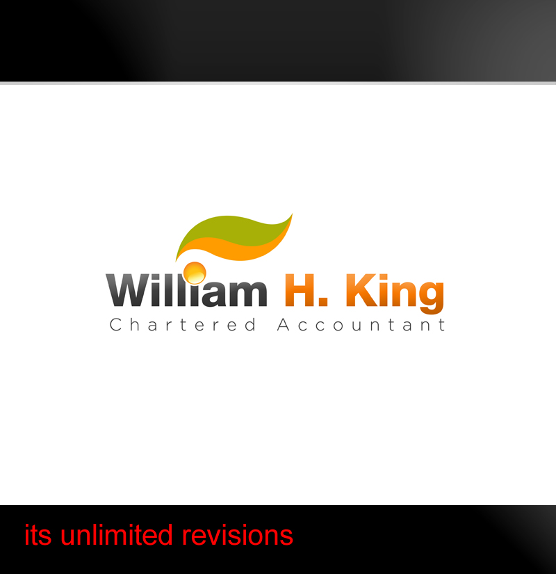 Logo Design by ahmed_nofal - Entry No. 209 in the Logo Design Contest New Logo Design for William H. King, Chartered Accountant.