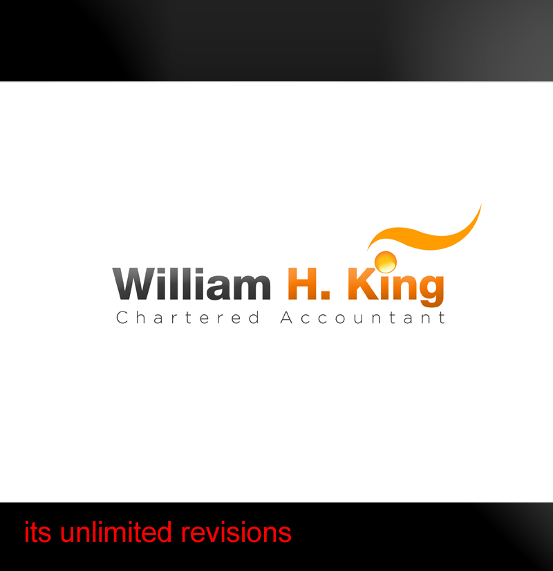 Logo Design by ahmed_nofal - Entry No. 211 in the Logo Design Contest New Logo Design for William H. King, Chartered Accountant.