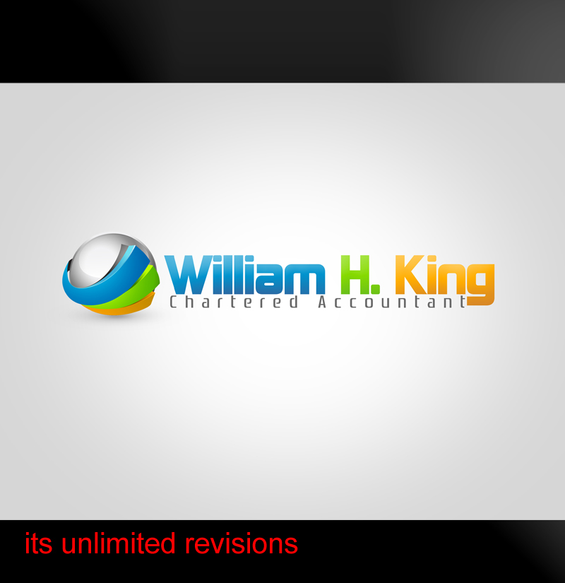 Logo Design by ahmed_nofal - Entry No. 212 in the Logo Design Contest New Logo Design for William H. King, Chartered Accountant.