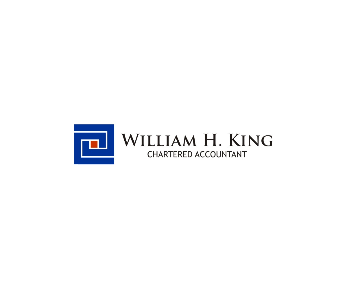 Logo Design by untung - Entry No. 221 in the Logo Design Contest New Logo Design for William H. King, Chartered Accountant.