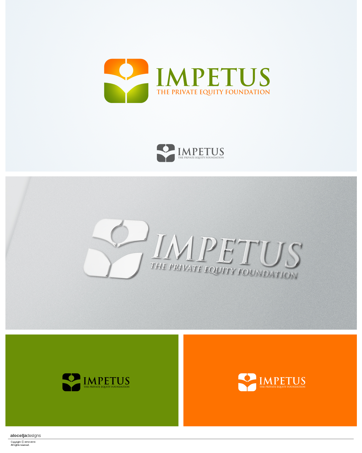 Logo Design by alocelja - Entry No. 31 in the Logo Design Contest New Logo Design for Impetus - The Private Equity Foundation.