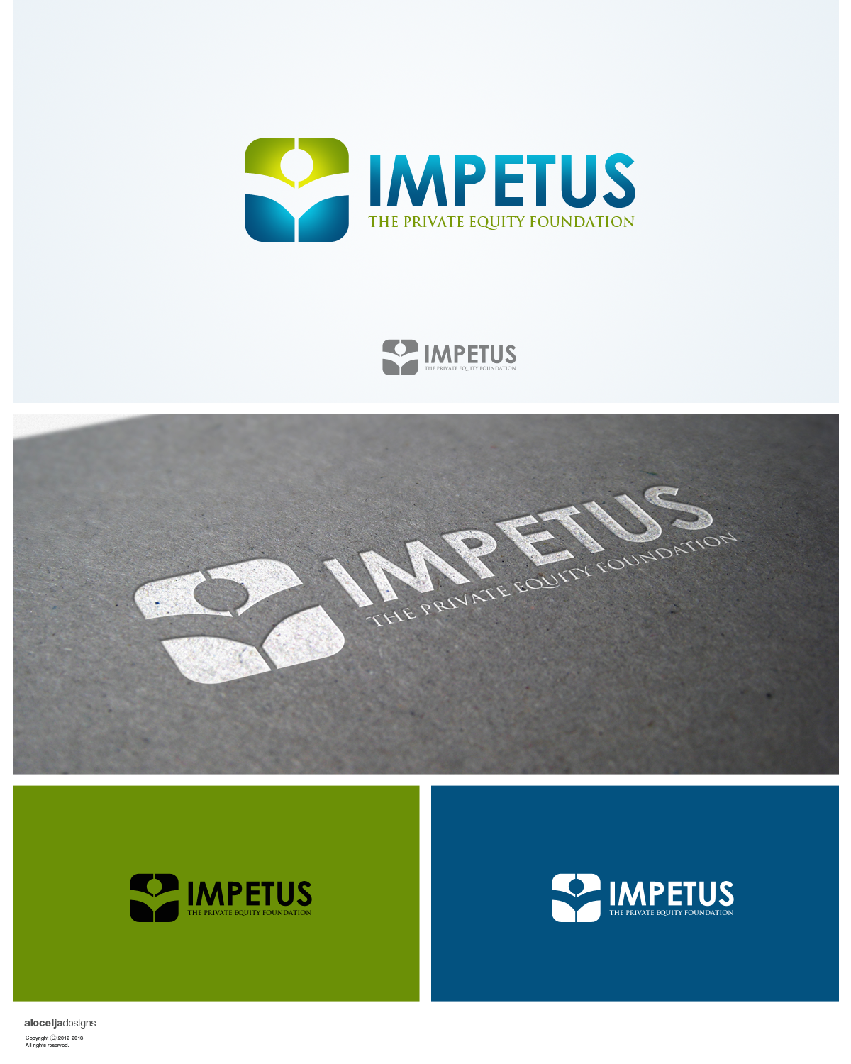 Logo Design by alocelja - Entry No. 32 in the Logo Design Contest New Logo Design for Impetus - The Private Equity Foundation.