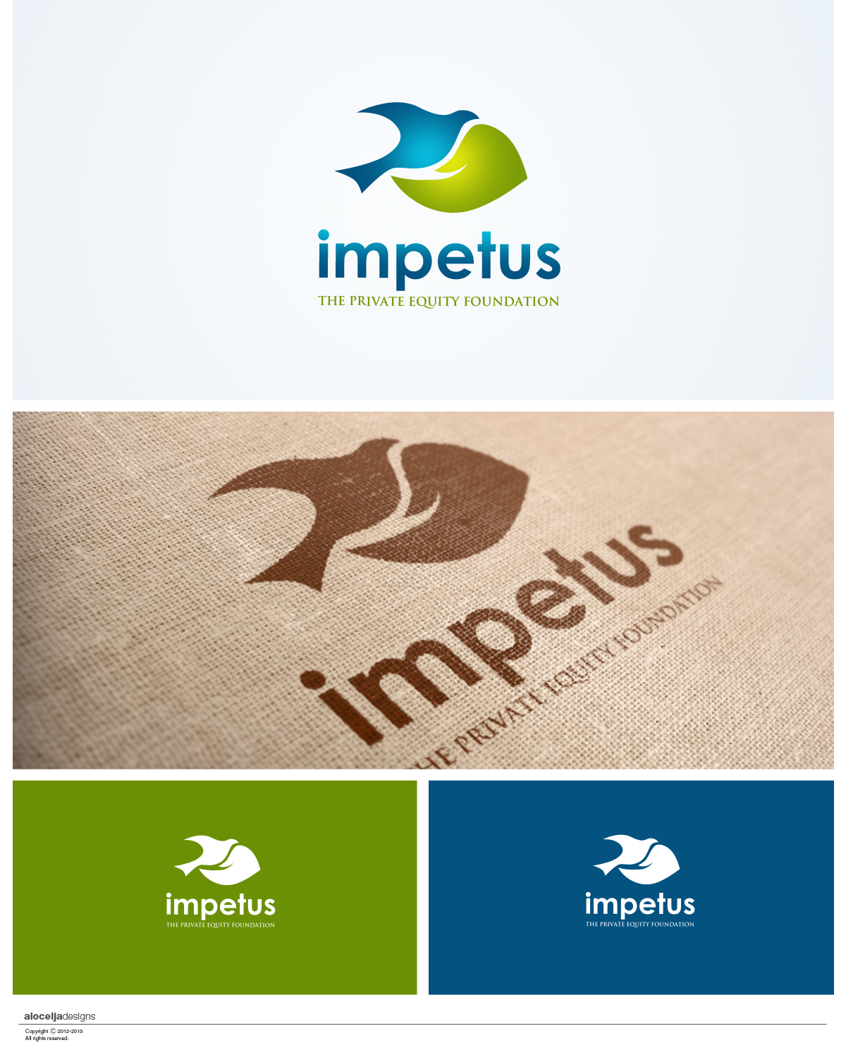 Logo Design by alocelja - Entry No. 33 in the Logo Design Contest New Logo Design for Impetus - The Private Equity Foundation.