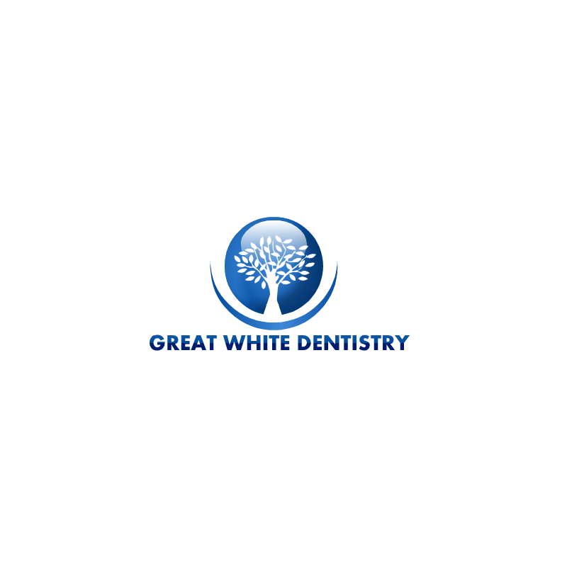 Logo Design by RAJU CHATTERJEE - Entry No. 2 in the Logo Design Contest Logo Design for Great White Dentistry.