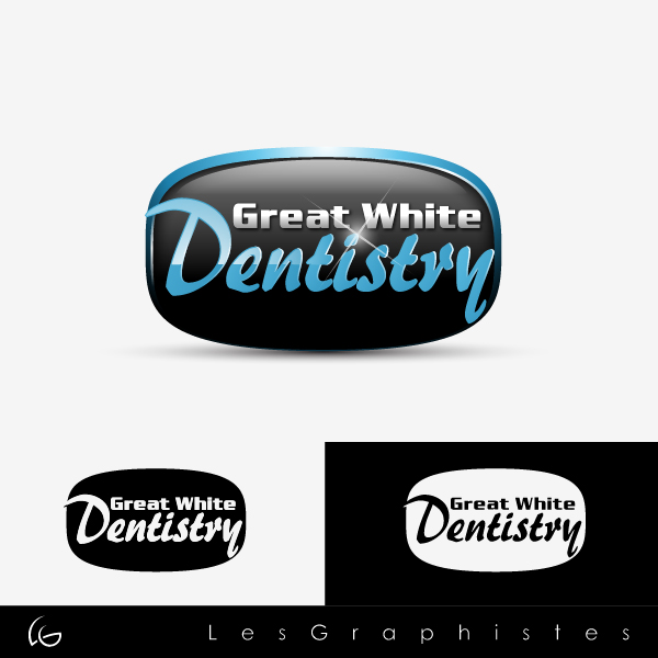 Logo Design by Les-Graphistes - Entry No. 7 in the Logo Design Contest Logo Design for Great White Dentistry.