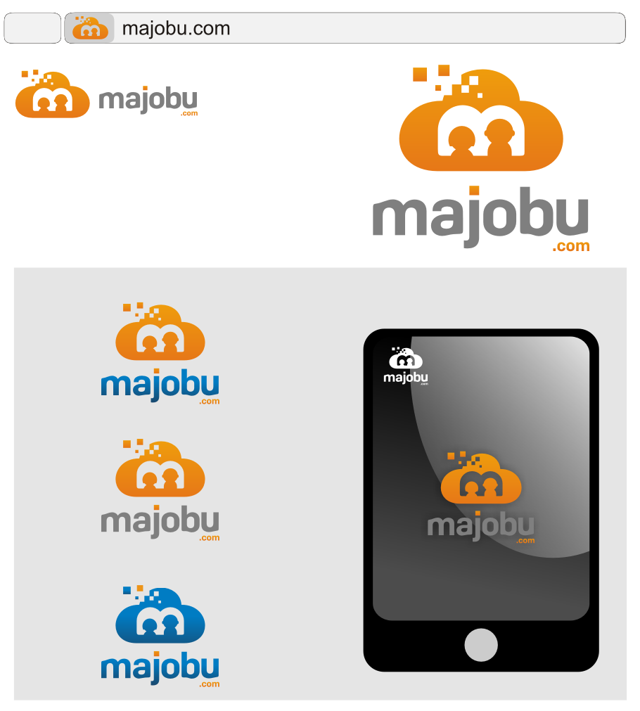 Logo Design by Muhammad Nasrul chasib - Entry No. 137 in the Logo Design Contest Inspiring Logo Design for Majobu.