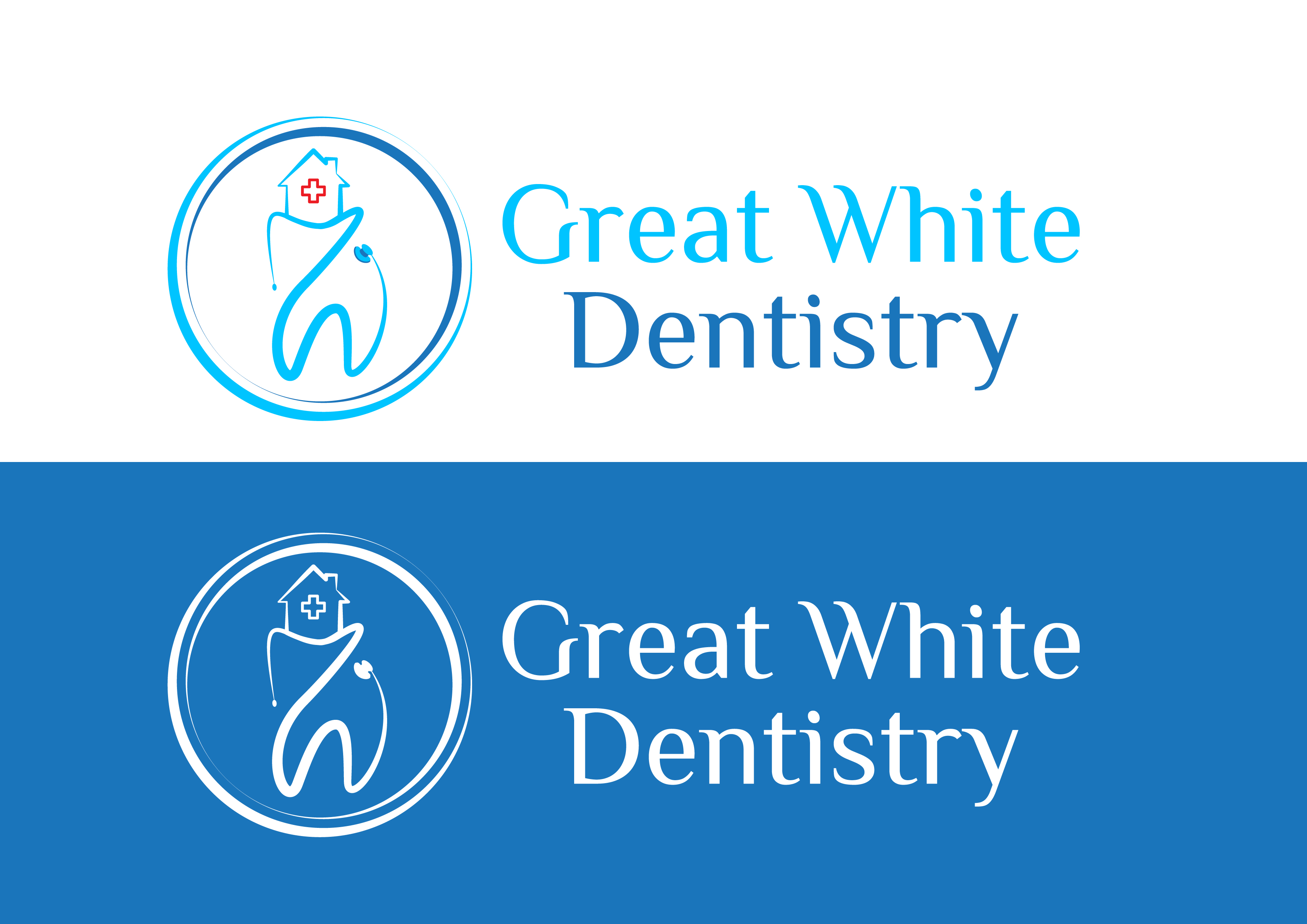 Logo Design by 3draw - Entry No. 10 in the Logo Design Contest Logo Design for Great White Dentistry.